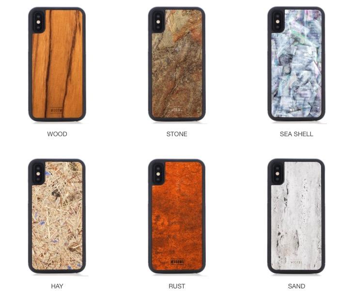 WOODWEの天然素材を使用したiPhoneケース